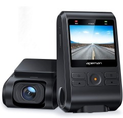 Apeman C550A dash cam on a white background