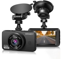 Orskey S900 dash cam on a white background