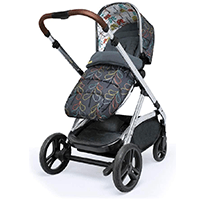 Cossato CT3929 Wow XL 3-1 baby pram with colorful patterns