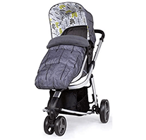 Cossato Giggle Mix CT4357 baby pram with single fron wheel and flowery pattern