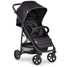 Hawk Rapid 4 Black pram and pushchair with holding bar and wheels