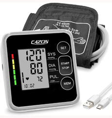 CAZON Large Cuff Blood Pressure Monitor on white background
