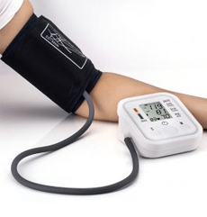A&D Medical Blood Pressure Monitor used by a man to take some measurements