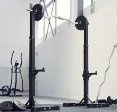 TecTake Squat Rack on gym room setting