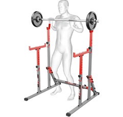 K-Sport Bodybuilding Squat Rack on white background