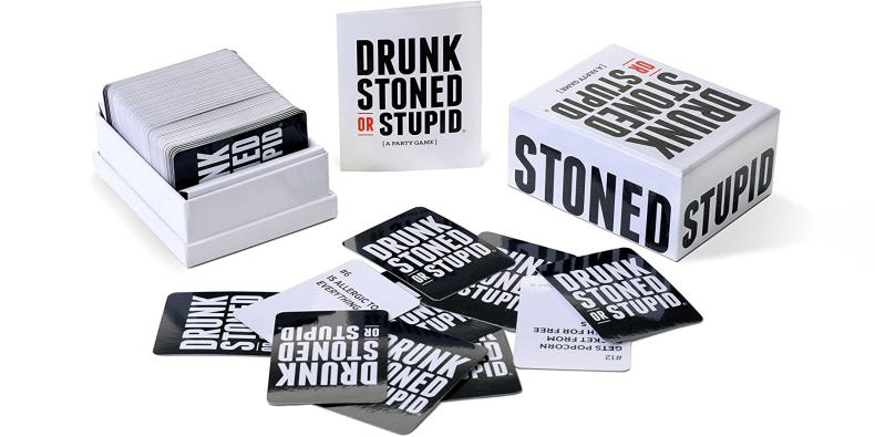 Drunk Stoned Or Stupid board game on a white background