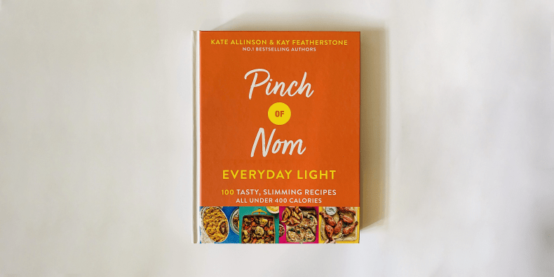 Pinch Of Nom Everyday Light book on a white surface