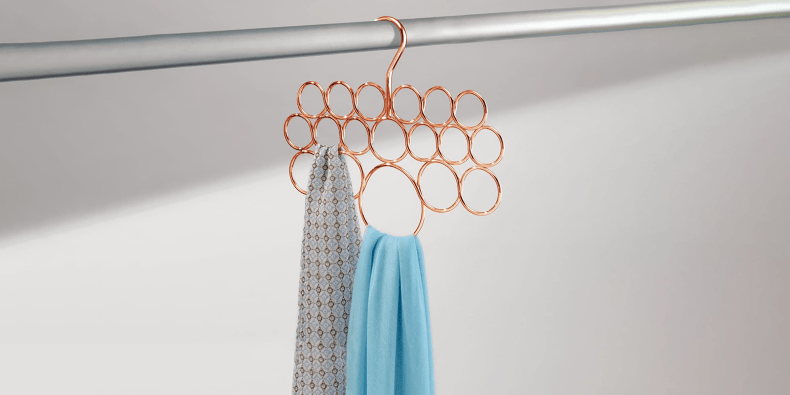 IDesign Scarf Holder with some scarfs on it