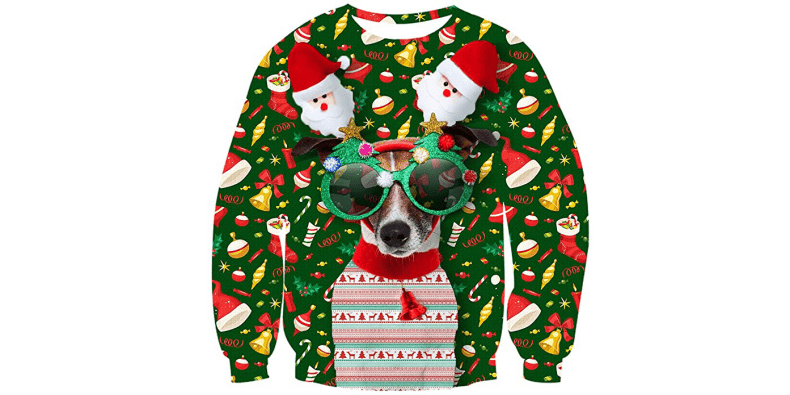 Uideazone Ugly Christmas Sweater on a white background