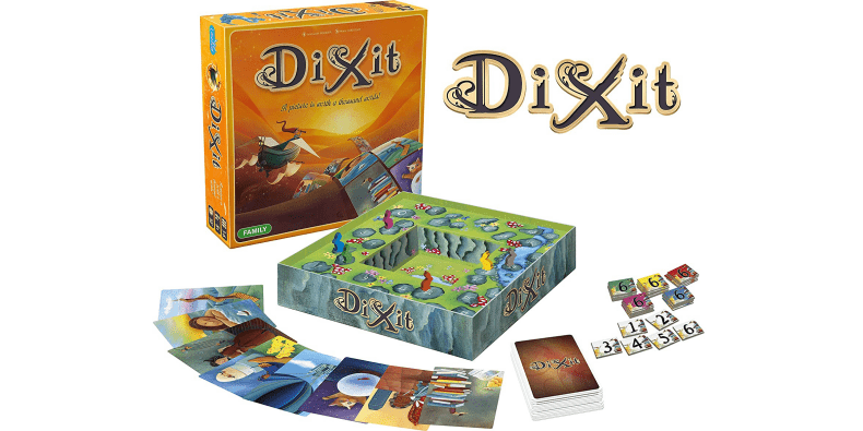 Dixit board game on a white background