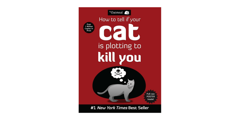 How To Tell If Your Cat Is Plotting To Kill You book on a white background
