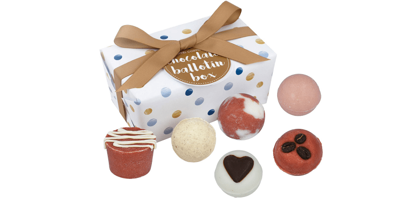Bomb Cosmetics Chocolate Handmade Bath Melts on a white background