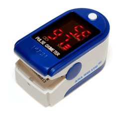 Anapulse Pulse Oximeter blue on a white background