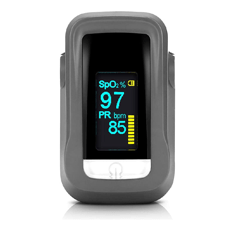 Teaisiy Pulse Oximeter standing on a white surface
