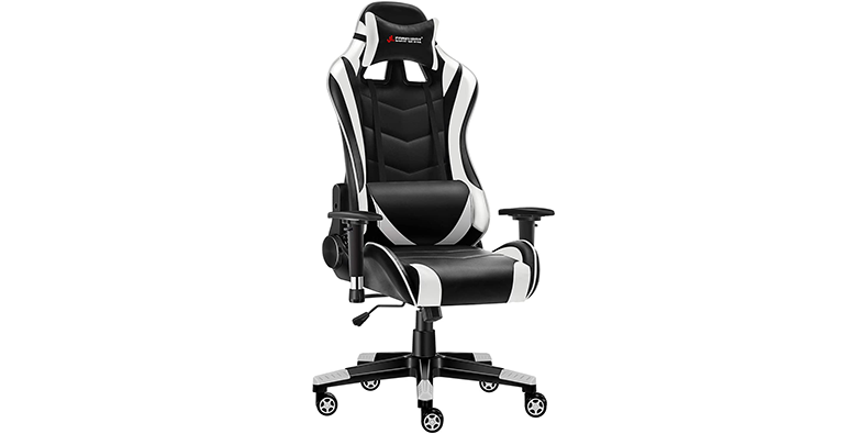 JL Comfurni Chesterfield gaming chair on a white background