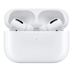 Apple AirPods Pro home gym equipment on a white background