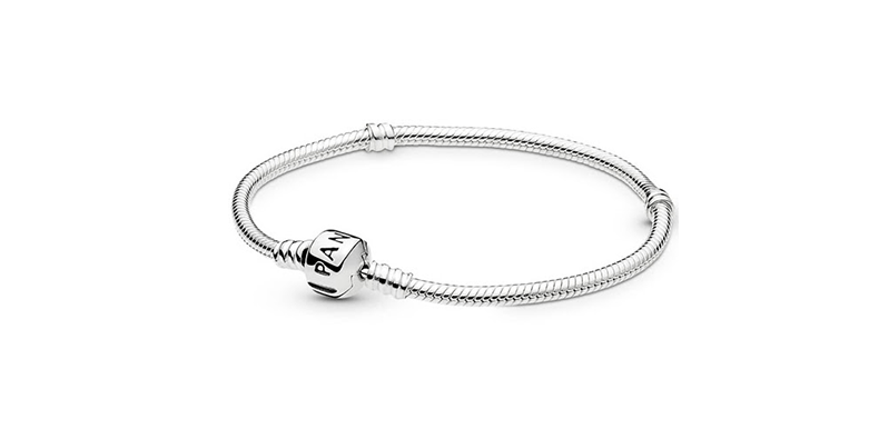 Pandora Silver Bracelet on a white background