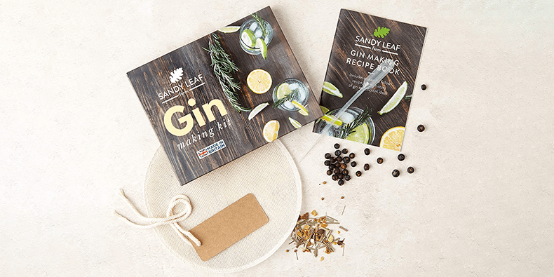 Gin Making Kit - Make Your Own Gin At Home on a beige surface
