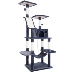 P PURLOVE Cat Tree on a white background
