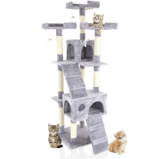 Cozy Pet Deluxe Multi-Level Cat Tree on a white background