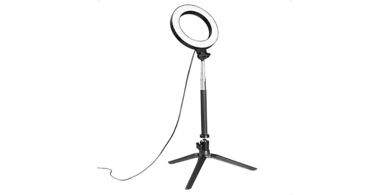 Docooler Ring Light with Stand on white background