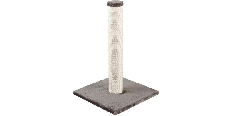 Trixie Parla scratching post on white background