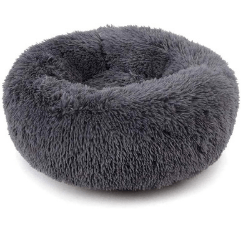 Muswanna Plush Donut Pet Bed on white background