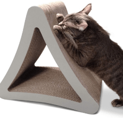PetFusion 3-Sided Vertical Cat Scratching Post on white background