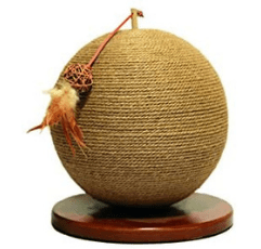 Rosewood Parsley Natural Jute Cat Scratcher on white background