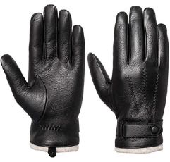 Acdyion Men's Touchscreen Genuine Leather Gloves on white background