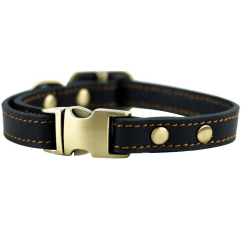 Rantow Leather Dog Collar on a white background