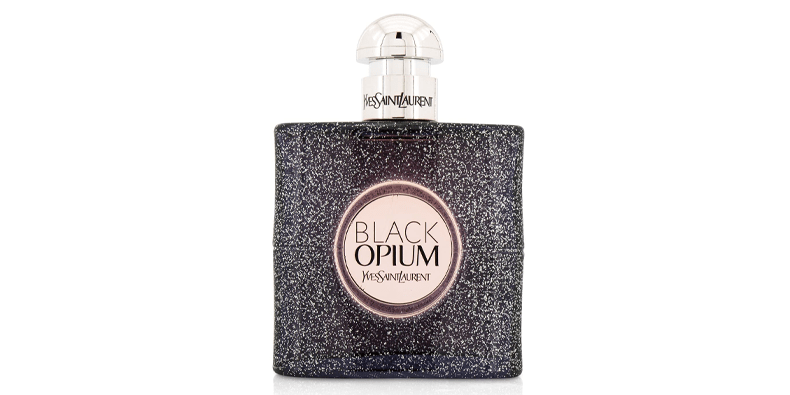 Black Opium By Yves Saint Laurent Eau De Parfum on a white background