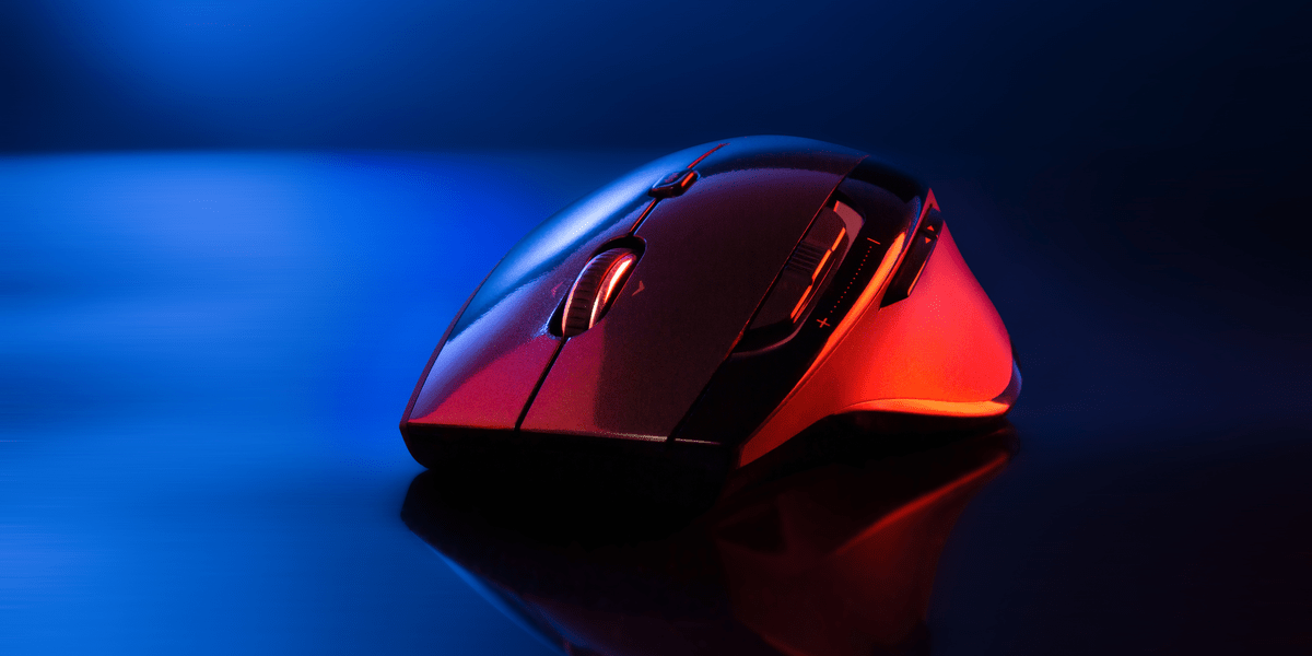 A gaming mouse with beautiful light
