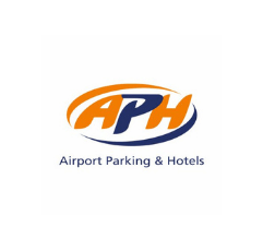 APH Airport Parking & Hotels logo on white background