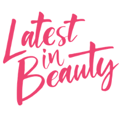 Latest in Beauty logo on white background