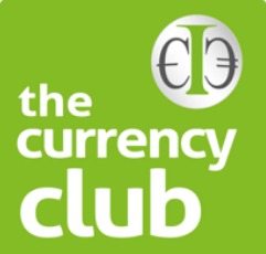 The Currency Club logo on green background