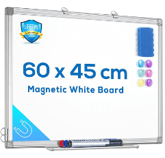 Maxtek Wall Hanging White Board on white background