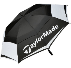 TaylorMade Double Canopy Golf Umbrella on white background