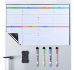 Poprun Magnetic Weekly Planner Whiteboard on white background